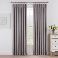 Marin 63-Inch Pinch Pleat Room Darkening Window Curtain Panel in Grey
