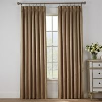 Marin 108-Inch Pinch Pleat Tab Room Darkening Window Curtain Panel in Gold
