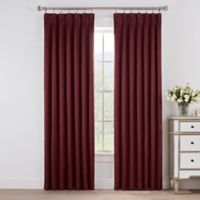 Marin 108-Inch Pinch Pleat Room Darkening Window Curtain Panel in Merlot