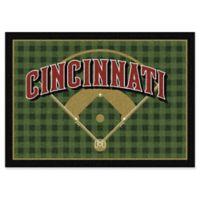 "MLB Team Field Cincinnati Reds 5'4"" x 7'8"" Area Rug"