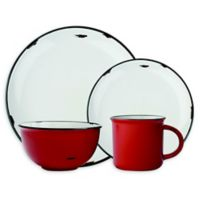 canvas home™ Tinware 4-Piece Place Setting in Red