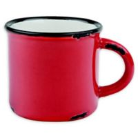 Tinware Espresso Mugs in Red (Set of 4)
