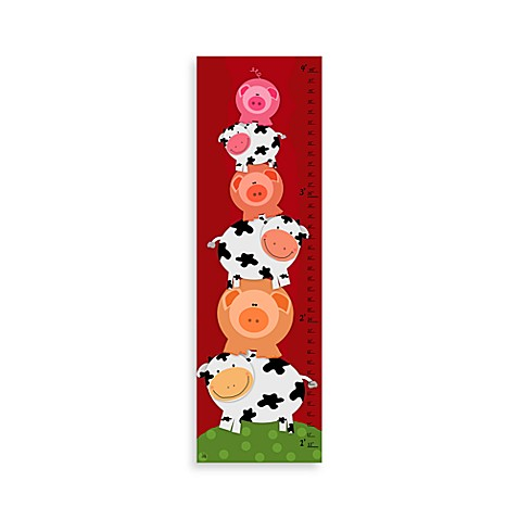 Green Leaf Art Pigs & Cows Growth Chart