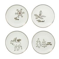 American Atelier Holidays Gold Salad Plates (Set of 4)