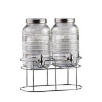 Style Setter Liam Double Beaded Beverage Dispensers with Stand