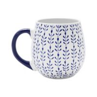 Prima Design Lattice Mug in Blue/White