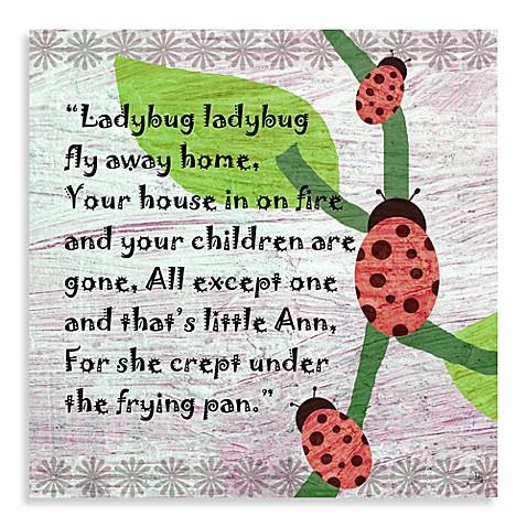 Green Leaf Art Ladybug Poem Canvas Art Buybuy Baby