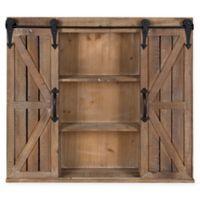 Uniek® Cates Barn Door Wood Wall Cabinet in Brown