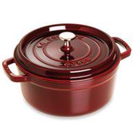 Staub 5.5 qt. Round Cocotte in Dark Red