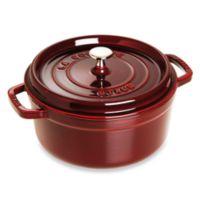 Staub 7 qt. Round Cocotte in Dark Red