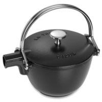 Staub Round Cast Iron 1-Quart Teapot/Kettle in Black