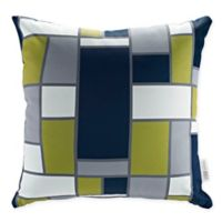 Modway Rectangle Square Outdoor Throw Pillows in Green/Multi (Set of 2)