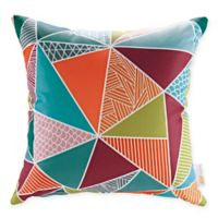 Modway Mosaic Square Outdoor Throw Pillows in Multi (Set of 2)