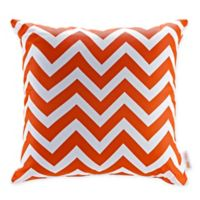 Modway Chevron Square Outdoor Throw Pillows in Red/White(Set of 2)