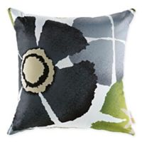 Modway Botanical Square Outdoor Throw Pillows in Black/Multi (Set of 2)