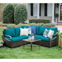 Leisure Made Trenton 4-Piece Outdoor Sectional Set in Peacock
