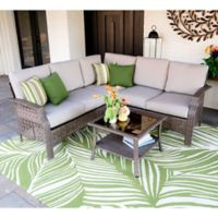 Leisure Made Concord 4-Piece Outdoor Sectional Set in Tan
