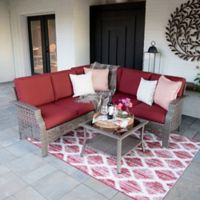 Leisure Made Concord 4-Piece Outdoor Sectional Set in Red