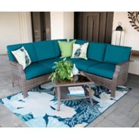 Leisure Made Concord 4-Piece Outdoor Sectional Set in Peacock