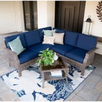 Leisure Made Concord 4-Piece Outdoor Sectional Set in Navy