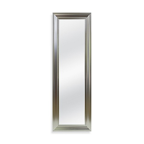 No tools over the door mirror in brushed nickel bed bath for Mirror over mirror