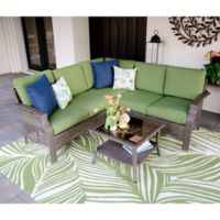Leisure Made Concord 4-Piece Outdoor Sectional Set in Green