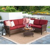Leisure Made Bessemer 5-Piece Outdoor Sectional Set in Red
