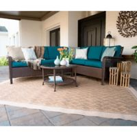 Leisure Made Bessemer 5-Piece Outdoor Sectional Set in Peacock