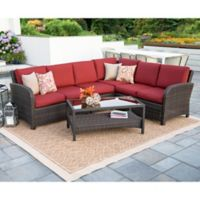 Leisure Made Jackson 5-Piece Outdoor Sectional in Red