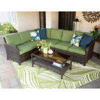 Leisure Made Jackson 5-Piece Outdoor Sectional in Green