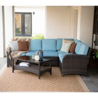 Leisure Made Jackson 5-Piece Outdoor Sectional in Spa Blue