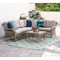 Leisure Made Birmingham 5-Piece Outdoor Sectional in Tan