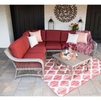 Leisure Made Birmingham 5-Piece Outdoor Sectional in Red