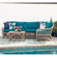 Leisure Made Birmingham 5-Piece Outdoor Sectional in Peacock