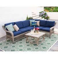 Leisure Made Birmingham 5-Piece Outdoor Sectional in Navy
