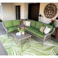 Leisure Made Birmingham 5-Piece Outdoor Sectional in Green