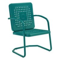 Bates All-Weather Steel Chairs in Turquoise (Set of 2)