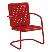 Bates All-Weather Steel Chairs in Red (Set of 2)