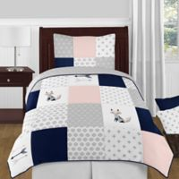 Sweet Jojo Designs Fox Patch 4-Piece Twin Bedding Set