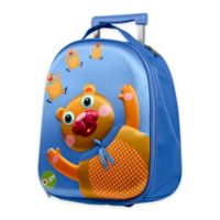 Oops 3D Bear Easy Trolley Backpack in Blue