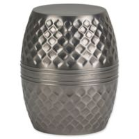 Simpli Home Ramsey Metal Accent Table in Antique Silver
