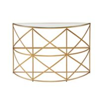 Madison Park Nora Console Table in Gold