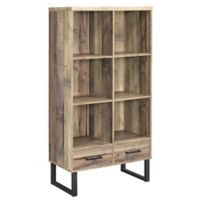 Norris Weathered Pine Wood Bookcase