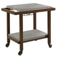 Fowler Casual Serving Cart in Chestnut