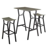 Juno Industrial 3-Piece Bar Set in Rustic Grey