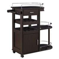 Clearlake Serving Cart in Cappuccino