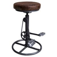 "Armen Living Swivel Xane 32"" Bar Stool in Brown"