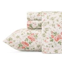 Laura Ashley® Lilian King Sheet Set in Coral/Green