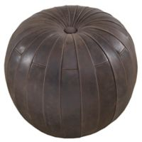 Harbor House™ Leather Austin Ottoman in Dark Brown