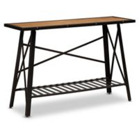 Baxton Studio Fern Wood & Metal Console Table